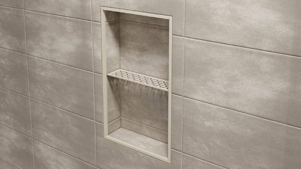 Schlüter®-SHELF - Étagères esthétiques pour murs carrelés   Schlüter
